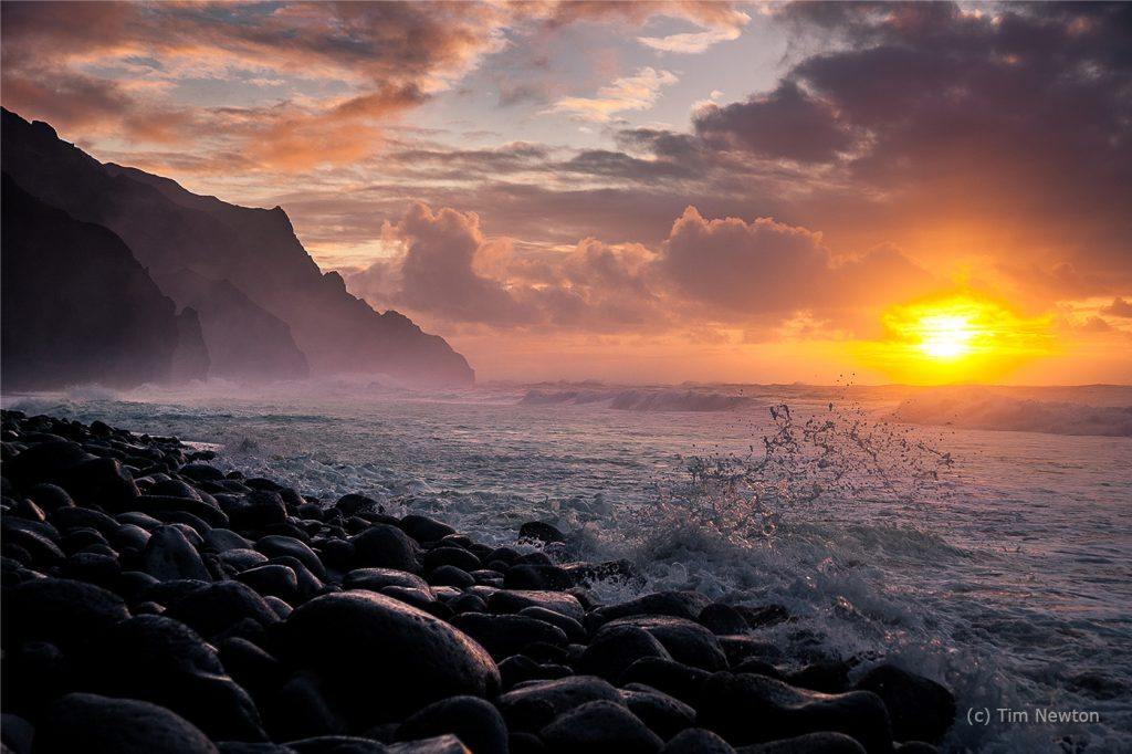 Sunset on the Kalalau